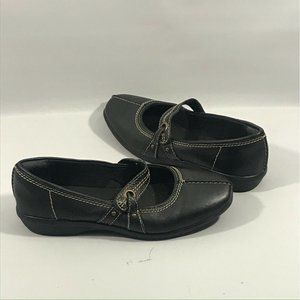 Clarks Collection Black Mary Jane Flats 7.5M